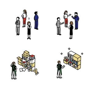 職場環境のイメージイラスト